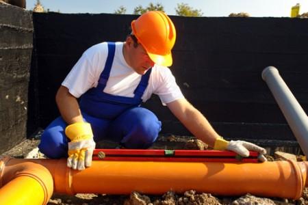 Определение угла наклона канализационной трубы