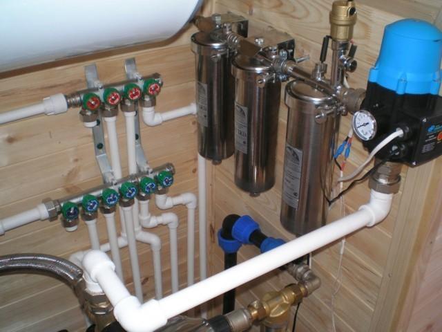Installation of plumbing and sanitary equipment