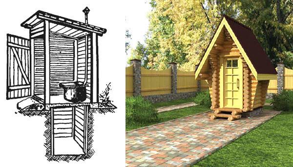 Как построить туалет на даче своими 98