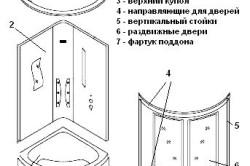 Схема душевой кабины.