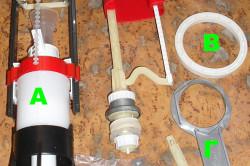 Устройство унитазного бачка: что находится в сливном бачке