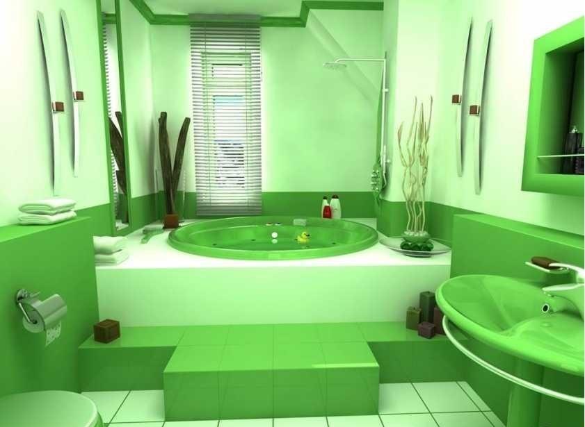 Ванная комната со спрятанными трубами