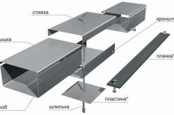 Схема металлического короба для труб
