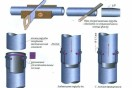 Раструбное соединение канализационных труб с уплотнительным кольцом Основной вид...
