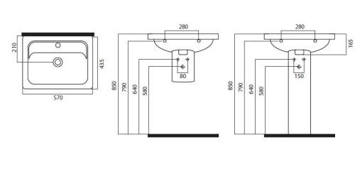 Схема раковины для кухни