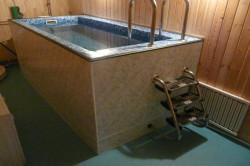 Диайн бассейна в бане