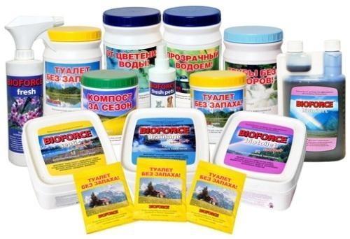 Биопрепараты для очистки сливных ям