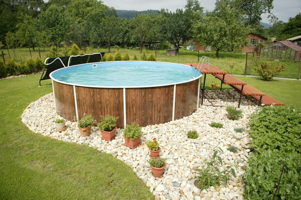 Как построить дачу своими руками с бассейном 348