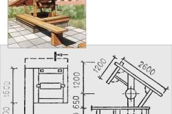 Схема деревянного колодца