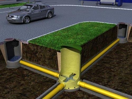 Схема правильно смонтированного канализационного колодца