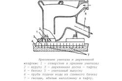 Схема крепления унитаза к деревянной тафте