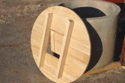 Крышка для колодца из древесины