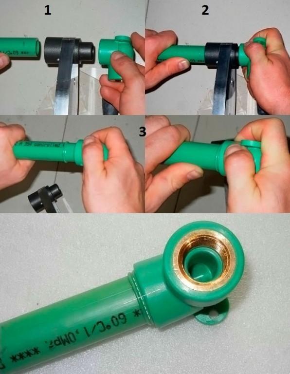 Процесс сварки труб