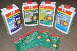 Применяемые средства для очистки выгребных ям