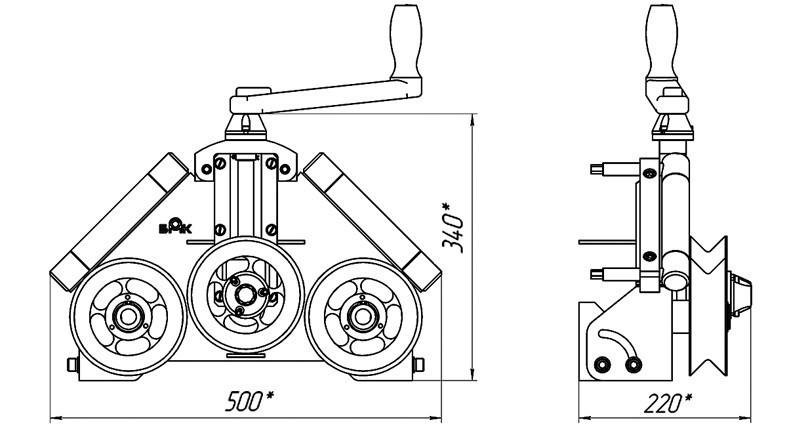 Схема ручного трубогиба.