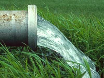Сброс очищенной воды из септика.