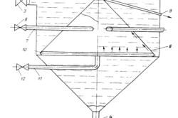 Устройство для очистки нефтесодержащих сточных вод (по а. с. А. Е.,Аствацатурова, И. Г. Чайки)