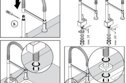 Схема установки кухонного смесителя