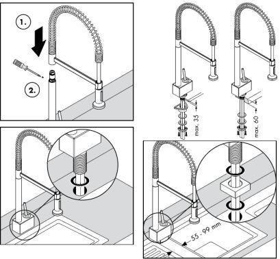 Схема установки кухонного
