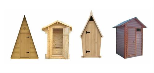 Виды домиков для туалетов
