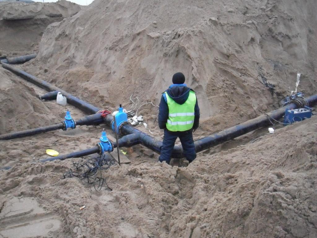 Подготовительные работы к прокладке трубопровода